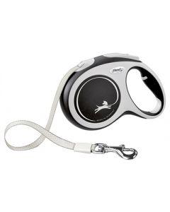 Flexi Rollijn New Comfort Tape Zwart L 5 Mtr