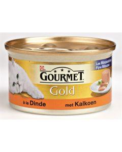 Gourmet Gold Fijne Mousse Kalkoen 85 Gr (verpakt per 24)