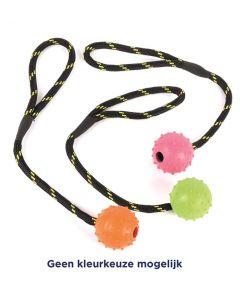 Happy Pet Tough Toys Rubber Bal Studded Aan 31,5x5,5x5,5 Cm