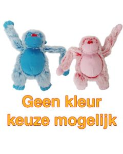 Harige Aap Roze/blauw 22 Cm