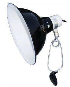 Komodo Black Dome Clamp Lamp Fixture 21 Cm