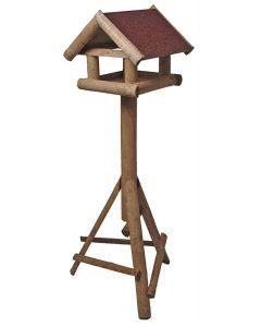 Voederhuis Huismodel Met Dakleer Bruin