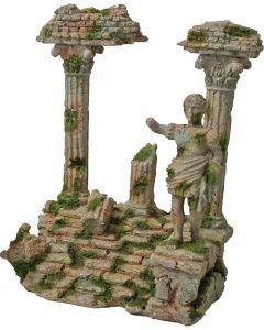 Romeinse Tempel Met Beeld Grijs 22x17 Cm
