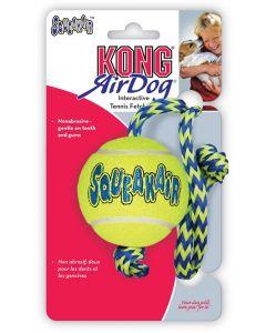 Kong Air Squeaker Ball Met Touw Geel/blauw 52x6,5x6,5 Cm