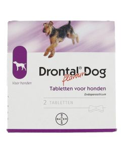 Bayer Drontal Tasty Ontworming Hond 2 Tabletten