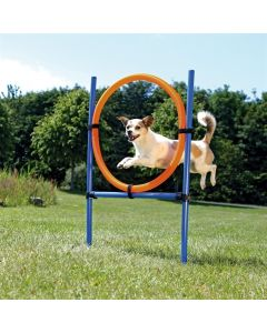 Trixie Dog Activity Agility Ring Blauw / Oranje 65x3x115 Cm