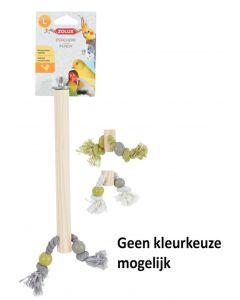Zolux Zitstok Hout Met Touw Assorti 2x1,5x23,5 Cm
