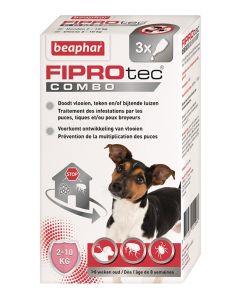 Beaphar Fiprotec Combo Hond 2-10 Kg 3 St