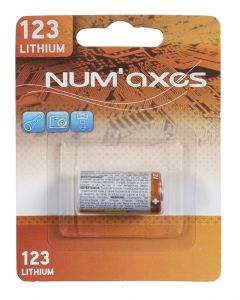 Numaxes Lithium Batterij Cr123a 3v