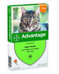 Bayer Advantage Kat 4 Pipetten 40 Tot 4 Kg 4 Pip