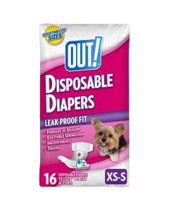 Out! Disposable Diapers Xs / Small 16 St