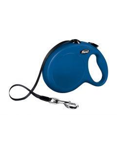 Flexi Rollijn Classic Tape Blauw L 5 Mtr