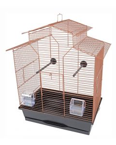 Interzoo Vogelkooi Iza 2 Koper / Zwart 51x30x60,5cm