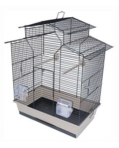 Interzoo Vogelkooi Iza 2 Zwart / Beige