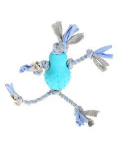 Little Rascals Flostouw Pop Met Fleece Blauw 35x10x7 Cm