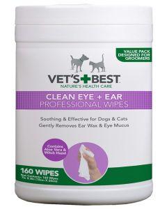 Vets Best Clean Ear / Eye Wipes Hond 160 St