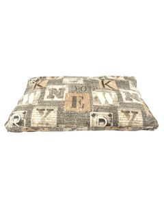 Woefwoef Hondenkussen Lounge Luxe New York Taupe