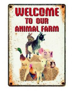 Plenty Gifts Waakbord Blik Farm Welcome 15x21 Cm