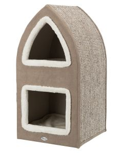 Trixie Krabpaal Cat Tower Marcy Bruin / Creme 38x38x75 Cm