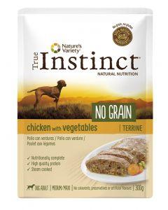 True Instinct Pouch No Grain Medium Adult Chicken Terrine 300 Gr