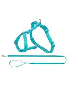 Trixie Premium Kattentuig Met Riem Turquoise 33-57x1,3 Cm