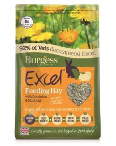 Burgess Excel Feeding Hay Paardenbloem En Goudsbloem 1 Kg