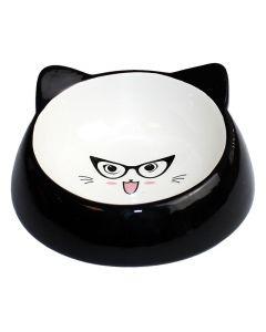 Happy Pet Voerbak Kat Specs Zwart 15x15x7 Cm