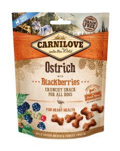 Carnilove Crunchy Snack Struisvogel / Zwarte Bes 200 Gr