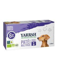 Yarrah Dog Alu Pate Multipack Chicken / Turkey 6x150 Gr