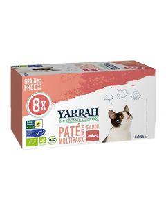 Yarrah Cat Alu Pate Multipack Salmon 8x100 Gr