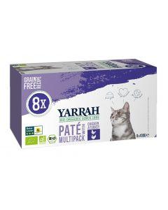 Yarrah Cat Alu Pate Multipack Chicken / Turkey 8x100 Gr