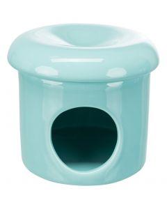 Trixie Speelhuis Muizen Met Deksel Keramiek Turquoise 12x12x10 Cm