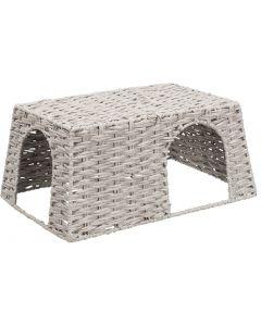 Trixie Huis Voor Konijnen Papiergaren Grijs 45x30x20 Cm