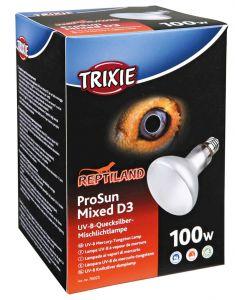 Trixie Reptiland Prosun Mixed D3 Uv-b Lamp Zelfstartend 100 Watt 9,5x9,5x13 Cm
